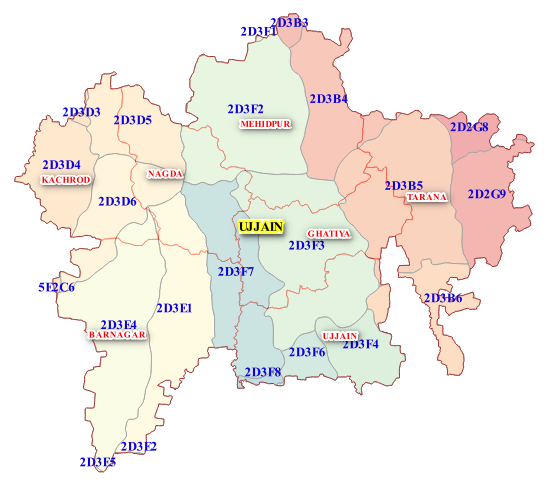 Ujjain India Map.Ujjain
